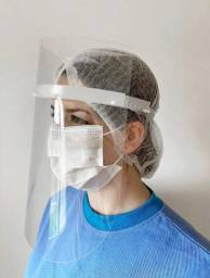 Escudo Protetor Facial Face Shield Máscara Leve Confortável