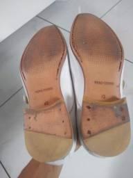 Sapato social de couro branco + Cinto