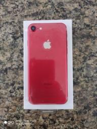 iPhone 7 Vermelho, 128GB/Caixa e acessórios.