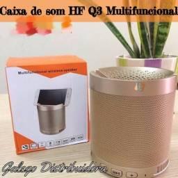 Caixa de som HF Q3, 5w Cor Golden (NOVO)