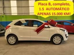 Ford Ka Se 1.5 automático, placa B, apenas 15.000 km, novíssimo!