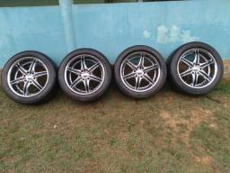 Jogo de aro 20 com pneu 265/50