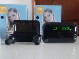 Fone De Ouvido Bluetooth Tws F9-5 impressão digital toque Com Led E Carregador