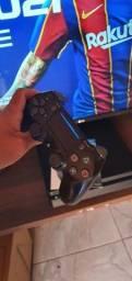 Ps4 slim HD 500gb 1 controle + um jogo em mídia física