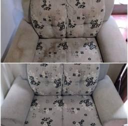 Limpeza e higienização de sofá.*