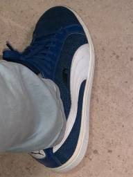 Vendo tênis puma smash azul, poucas vezes usado, número 39.