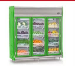 Refrigerador Vertical Hortifrutícola Gelopar 3 Portas 1490l