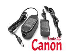 Fonte de energia para Canon ACK-E6 com chip canon 80d,90d 6d,7d e outrs