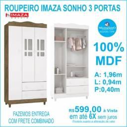 Roupeiro Imaza Sonho 3 Portas 100%MDF