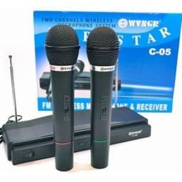 Promoção Kit com 2 Microfones Sem Fio, Novos, Entregamos