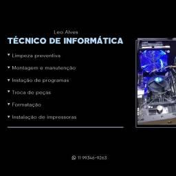 TÉCNICO DE INFORMÁTICA (ATENDO A DOMICÍLIO)