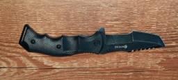 Canivete Tático Ray Preto Fosco em Aço Inox Invictus