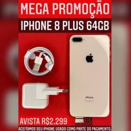 MEGA PROMOÇÃO 8PLUS 64GB GOLD