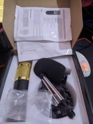 Microfone de Estúdio Bm-800 (Com placa de áudio externa)