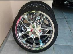 Jogo de Rodas Aro 20 pneus novos 225/35 R20 5x100 5x120