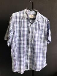 Camisa xadrez algodão Tamanho G usada