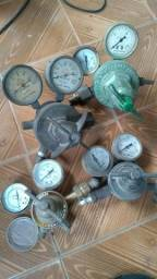 Manômetros diversos para gases de corte e solda