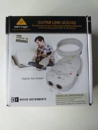 Interface de áudio USB para Guitarra