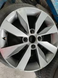 Roda aro 15 Volkswagen gol G6 diamantada com grafite 4X100 jogo
