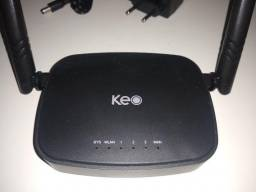 Roteador wireless keo klr 301 n 300mbps da Intelbras na cor preta