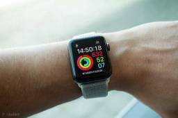 Apple watch série 3 42mm preto!! lacrado!