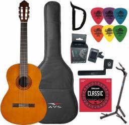 Violão Yamaha Acústico Nylon C40 Clássico Natural + Kit - Produto Novo - Loja Física