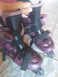 Um par de patins