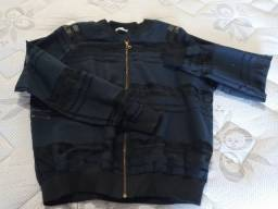 Jaqueta corta vento preta