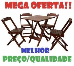 Oferta -Mesas e cadeiras- Dobraveis