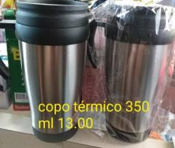 Copo térmico 350 ml  13,00