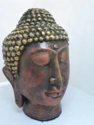 Cabeça Buda Grande Antiga de 21 centímetros cumprimento