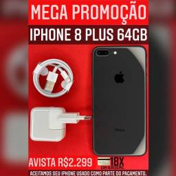 MEGA PROMOÇÃO 8PLUS 64GB PRETO