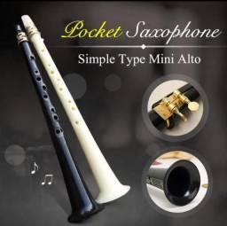 Mini Saxofone Alto Tipo Simples De Bolso - Branco