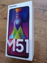 Galaxy M51 Novo lacrado com nota