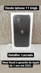 IPhone 11 (64 GB) - Preto/ Novo Lacrado/ 1ano de Garantia.