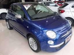 Fiat 500 lounge 2010 azul manual