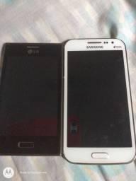 Estou vendendo dois celulares um LG e um da Samsung