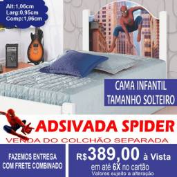 Cama Spider Juvenil Adesivada 100%MDF