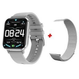 Smartwatch DTX prata promoção.