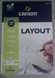 Bloco Papel Canson Layout 120g A3 50 Folhas