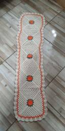 Trilho, tapete e jogo guardado em croche - Barato
