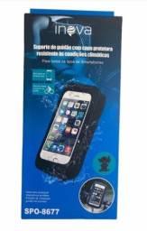 8030 - Suporte De Guidão Celular Moto Inova SPO-8677 Capa Protetora