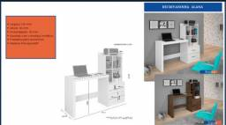 Mesa de escritório ou estudos com armário