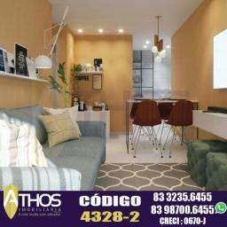 ?Mangabeira?  59,8m²  Apartamento Térreo com Área Privativa!