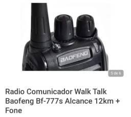 Kit  4 rádios comunicador walk talk baofeng bf 777s +  fone de ouvido