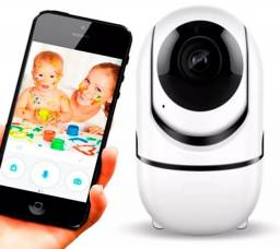 Câmera Ip Wifi Varredura Automática HD 960p Com Áudio Entrada Cartão