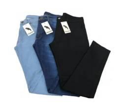 3 Calça Jeans Masculina Slim Original Elastano Lycra