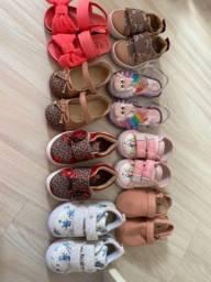 Sapatos e sandália tênis infantil menina