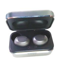 Fone Bluetooth Basike Com Case Carregadora Sem Fio Ba-6691