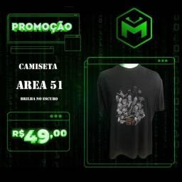 Camiseta Area 51 - Brilha no escuro
